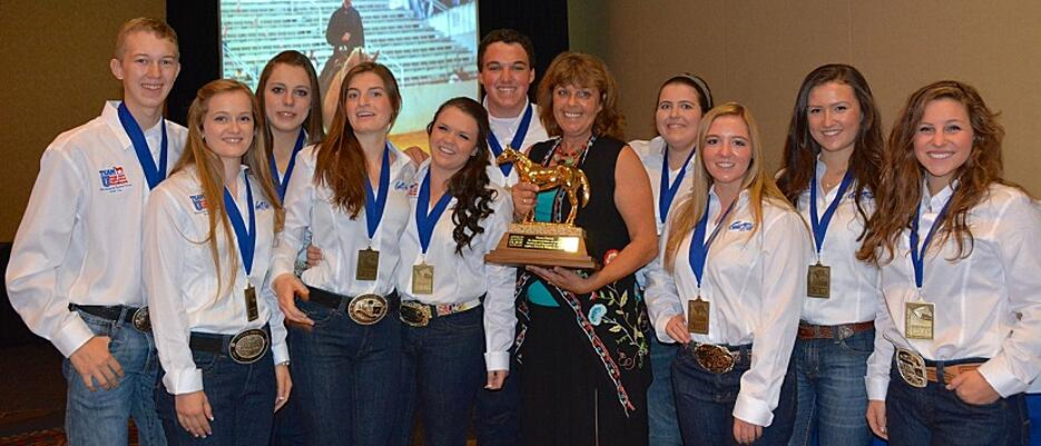 Dawn Forest and Team USA (c) AQHA